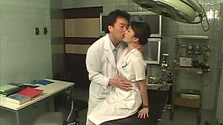 Cosplay Porn: Asians Nurses Cosplay Japanese MILF Nurse Fucked Doctors Office part 1