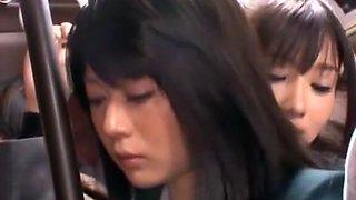 Horny Japanese chick Natsu Aoi, Yuu Shinoda, Ai Uehara in Incredible Masturbation/Onanii, Lesbian/Rezubian JAV movie
