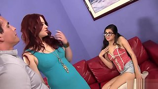 Naughty Couple Bangs Their Hot Babysitter