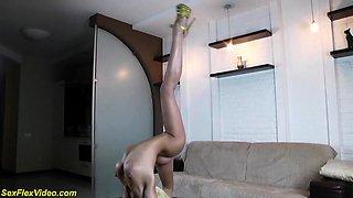 extreme long flexible leg spreading