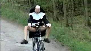 Nun On Bike