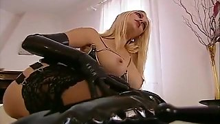 Julie silver latex group sex