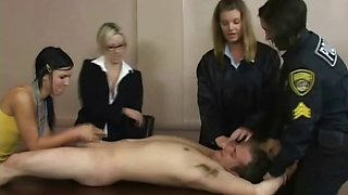 Cfnm femdom bitches facesit and cock play