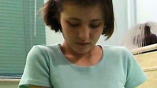 Schoolgirl with hard nipples