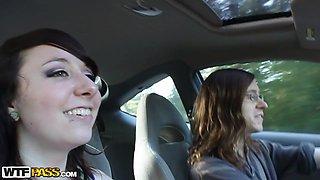 Cheyenne in hot amateur girl fucks and sucks dick in a car