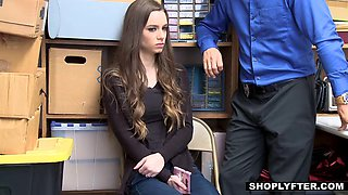 Teen babe gets punished by huge cock