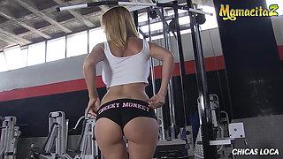 MAMACITAZ - Busty Latina Valeria Blue Has Rough Sex In Gym Room