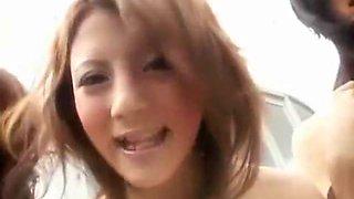 Crazy Japanese whore Risa Tsukino, Natsumi Horiguchi, Yuka Osawa in Exotic Group Sex, Outdoor JAV scene
