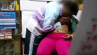 Indian aunty fucked in shop