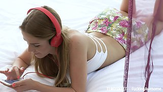 Delicious babe Alexis Crystal is making love with her boyfriend
