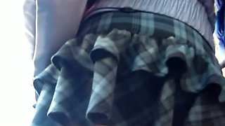 Skinny teen exposes camel toe in school girl upskirt vid