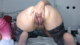 Punch fist pussy fucking hard and deep with sexy tongue out !