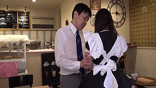 Natsuki Kisaragi and Renka Yamamoto - The Horny Maid Who Was Stopped For A While Was Cummed Out While Concentrating At 0 Seconds