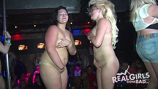 College girls on spring break get naked and dance in public
