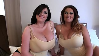 2 beautiful woman in golden bra part 2