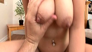 Big breasted cougar has a long shaft plowing her wet pussy