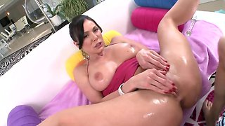 Lustful cougar can't get enough of his thick and long johnson