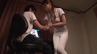 Best Japanese girl Yui Oba in Exotic striptease, cougar JAV scene