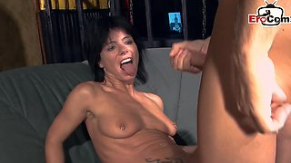 German amateur swinger party with housewife cou