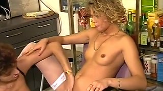 Horny Lesbians Use Food For Pussy Fun
