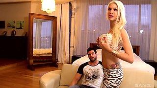 Lexxxy Belle is a nasty blonde in need of a stiff pleasure rod