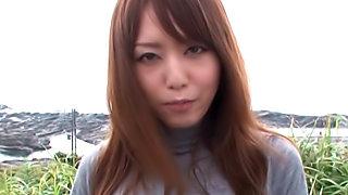 Cum swallowing with sexy Akiho Yoshizawa