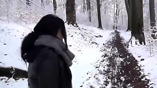 Cute brunette with a perfect ass gets fucked and creampied
