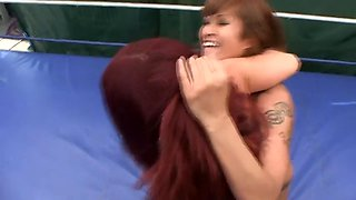 Dragon lily vs goldie wrestling hot!