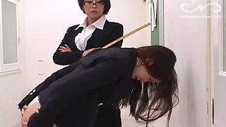 Japanese teacher spanked by the principal