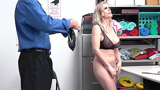 Tattooed nurse in the office spreads her legs for sex with an excited ...