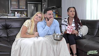 Blonde cutie Nikki Sweet gets licked and fucked by her lover