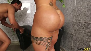 Athletic shemale skank Isabelle Ferreira wants her lover to dominate her