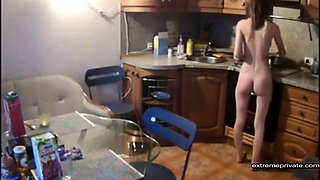my sister naked in our holiday home