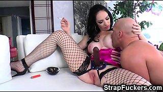 Smoking Mistress Strapon Femdom!