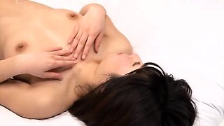 Slutty Japanese babes get their hairy pussies banged hard