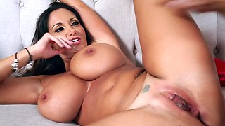 Nice MILF with big breasts has her pussy licked and fucked hard