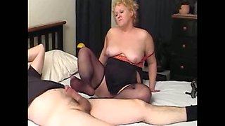 nasty auntie footjob