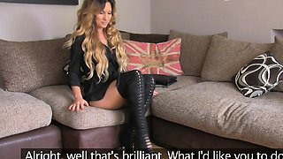 FakeAgentUK Tight pussy Essex chick casting couch fucking