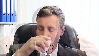 BUMS BUERO - Sexy German MILF secretary banged hard by boss