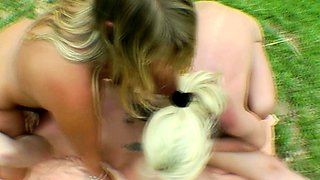 Holiday Pee and Fuck FFM Fun with two German MILFs and Boy