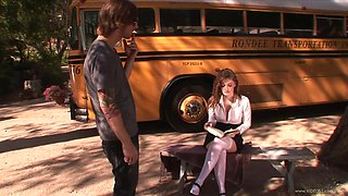 Sexy Redhead's Fucked Silly By A Horny Bus Driver
