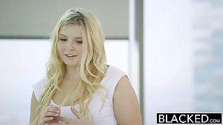 Blonde teen fucks her moms boyfriend!