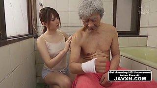 Hot Asian Teen Gets Fucked By Pervert Grandpa