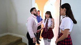 Schoolgirls Reyna and Honey Get Their Sexual Fantasies
