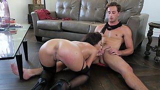 Fun and flexible girl in stockings needs his dick