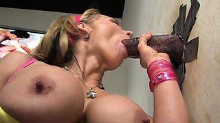 Nikki Sexx sucks BBC at gloryhole