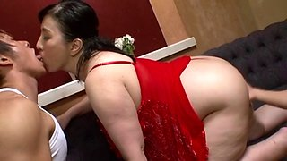 Japanese BBW with two big cocks