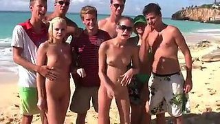 Nude beach - fisting friends