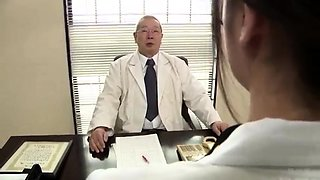 Nerdy Japanese girl with big boobs gets nailed in the office