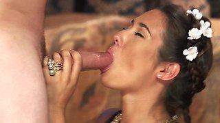 Eva Lovia and Van Wylde have sex in porn parody Game of Balls